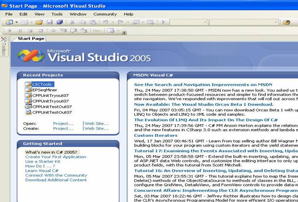 A Brief Introduction to Visual Studio 2005